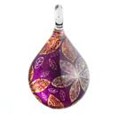 Glass Jewelryグラスジュエリー ペンダント(ティアドロップ)029【パッケージ付き】