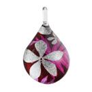 Glass Jewelryグラスジュエリー ペンダント(ティアドロップ)030【パッケージ付き】