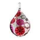 Glass Jewelryグラスジュエリー ペンダント(ティアドロップ)031【パッケージ付き】