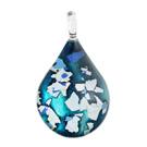 Glass Jewelryグラスジュエリー ペンダント(ティアドロップ)046【パッケージ付き】